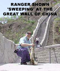 Ranger at the Great Wall of China